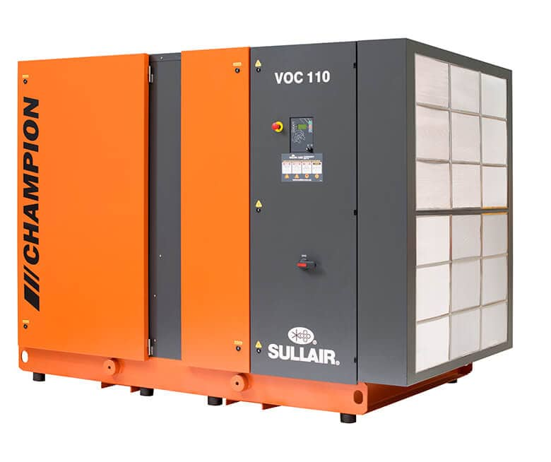 VOC 185 Oil Injected Screw Compressor Sullair